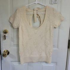 Anthropologie moth sweater Anthropologie moth sweater. Cream. Medium. 50% acrylic, 45% wool, 5% nylon. Anthropologie Sweaters