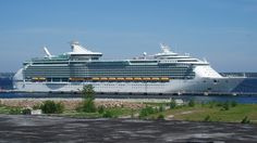 Adventure of the Seas cruise ship.   Cruise Ship.  In Reykjavik Harbour, Iceland,  3.9. 2014.  Tonnage: 137,276  Capacity: 3,114 passengers. Crew 1,185.  3.9. 2014.   NCO eCommerce,  www.netkaup.is