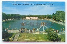 Largest municipal swimming pool in the world - Garden City, Kansas . . .  supposedly big enough to water-ski in it!