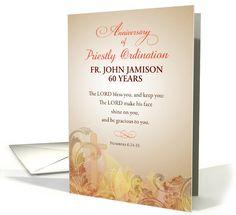 Custom Name & Year Priest, 60th Anniversary of Ordination card