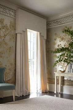 Dressing your bedroom windows is decorating at its most intimate. Window treatments are foundational to any room's decorating. - Check Out THE PICTURE for Lots of Ideas for Simple Window Treatments. Window Cornices, Window Coverings, Window Seats, Pelmet Box, Curtain Styles, Curtain Designs, Interior Decorating, Interior Design, Design Design