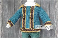 CROCHET PATTERN For Baby Boy or Girls Block Party Cardi.