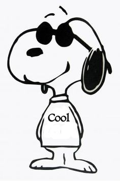 New Custom Screen Printed T-shirt Snoopy Cool Sunglasses Comic Small - 4XL Free