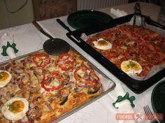 Vendégváró tepsis pizzák
