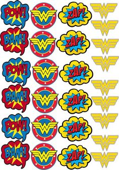 Ideal Digital Art for Tags Topper Label Wonder Woman Cake, Wonder Woman Birthday, Wonder Woman Party, Birthday Woman, Superman Party, Superhero Birthday Party, Birthday Parties, Anniversaire Wonder Woman, Super Heroine