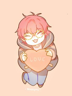 Hello ^^ this is Blossyay~ my art account. just putting this image here so it looks less empty T.T visit for older… Mystic Messenger Game, Mystic Messenger Characters, Luciel Choi, Zen, Saeran, Cute Chibi, Illustrations, Cute Love, Kawaii
