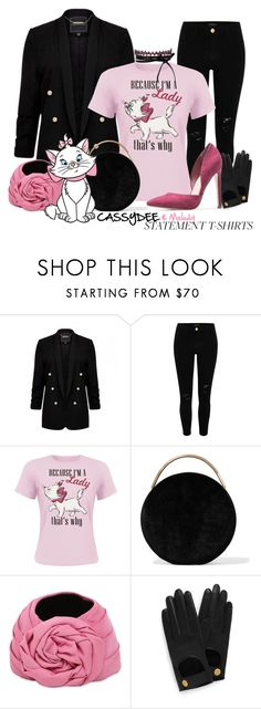 """""""#statementtshirt Marie"""" by cassydee ❤ liked on Polyvore featuring River Island, Eddie Borgo, Gucci, Mulberry, Fallon and statementtshirt"""