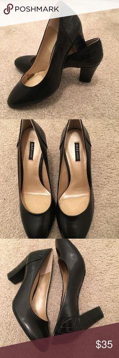 """Alex Marie Black Leather Pump Alex Marie Black Leather Pump - Size 7.5 M - Worn Once - Excellent Condition- 3"""" Heel Alex Marie Shoes Heels"""