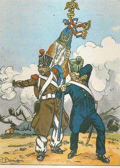 French; 8th Line Infantry, Lieutenant Guillemain, !st Porte-Aigle & Grenadier Sergeant, 2nd Porte-Aigle, Battle of Barrosa 1811