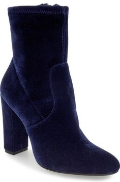 """Steve Madden 'Edit' Bootie (Women) - A subtly slouchy shaft and a streamlined design combine to create minimalist appeal for a block-heel bootie that's sure to be a wardrobe staple.      4"""" heel (size 8.5)     5"""" shaft     Side zip closure"""