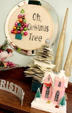 52 Mantels: Oh, Christmas Tree Wreath! how to
