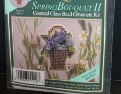 Mill Hill Spring Bouquet II Glass Bead Cross Stitch Kit Violet Basket #MillHill