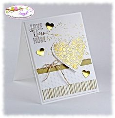 stampin up flowerfull heart stamp card by sandi @ www.stampingwithsandi.com