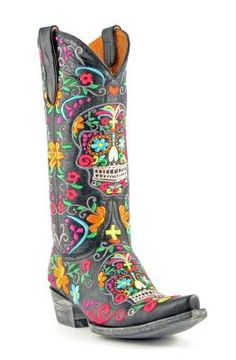 Womens Old Gringo Klak Boots Black #L1300-Allen Boots.                                        Not really me but I would rock em.. ;)