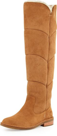 UGG Australia Samantha Quilted Tall Boot, Chestnut
