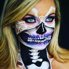 Makeup Tutorials & Makeup Tips :   Bridal Skull   Spooky Skeleton Makeup Ideas You Should Wear This Halloween    -Read More –   - #Makeup  https://fashioninspire.net/beauty/make-up/makeup-tutorials-makeup-tips-bridal-skull-spooky-skeleton-makeup-ideas-you-should-wear-this-halloween/