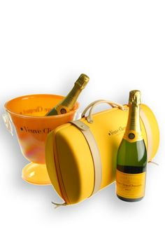Veuve Cliquot Champagne Travel Set - not really an essential - but why not?!