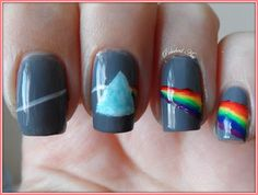 Day 9: My physics-inspired take on rainbow nails.