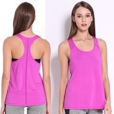 0150223f064a7 Women s Quick Dry Breathable Sleeveless Tank Top. Yoga Tank TopsWorkout ...