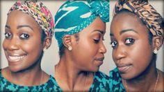 How To | Tie and Style Turban, Hair Wraps or Scarves as Protective Style! #naturalhair #naturalhairtutorial #thewraplife #turbantutorial #hairwraps