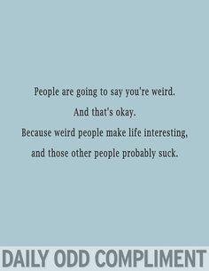 """Interesting People"""