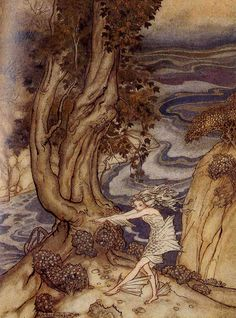 ✽ arthur rackham - from 'the tempest' - by william shakespeare