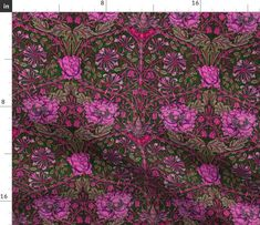 Colorful fabrics digitally printed by Spoonflower - William Morris ~ Honeysuckle ~ Cheshire Cat Psychedelic Colors, Cheshire Cat, William Morris, Custom Fabric, Spoonflower, Prints, Inspiration, Furniture, Biblical Inspiration