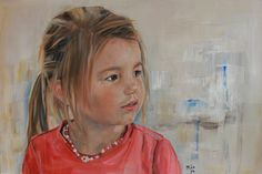 Portrait of Girl, oilpainting 40 x 60 cm.