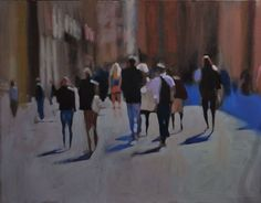 Buy Street Oil painting by John Welsh on Artfinder. Out Of Focus, Oil Painting On Canvas, Impressionist, Red And Blue, Blues, Street, Artist, Artwork, Cityscapes