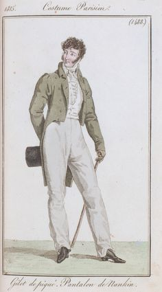 Journal des dames et des modes / Costume Parisien: 20 Juin, 1815 (b) Fashion Prints, Fashion Art, Mens Fashion, Vintage Dresses, Vintage Outfits, Vintage Fashion, Historical Costume, Historical Clothing, Mode Costume