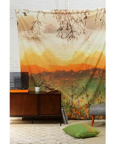 Mountain Sunshine Tapestry