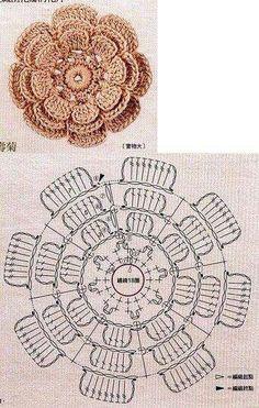 Flor en capas - crochet
