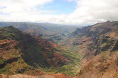 Waimea Canyon på Kauai, Hawaii.