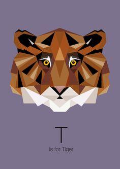 https://www.behance.net/gallery/Animal-Alphabet/12169985 t is for tiger