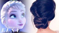 #FROZEN romanticized ELSA UPDO TUTORIAL | #hairstyles