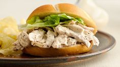 These chicken sandwiches are easy to make and sure to please the entire family! The extras (that is, if there are any) reheat well for lunch the next day.