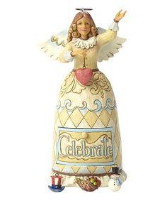 Love this Heartwood Creek Celebrate Angel Figurine Set on #zulily! #zulilyfinds