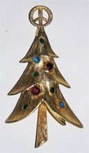 MV Peace Sign Christmas Tree Pin ~ Book Piece...another great tree by this designer.