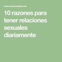 10 razones para tener relaciones sexuales diariamente