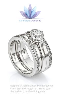 shaped wedding rings created to fit engagement ringslearn more about the cost timescales and process of ordering a custom made shaped wedding ring - Wedding Ring Cost
