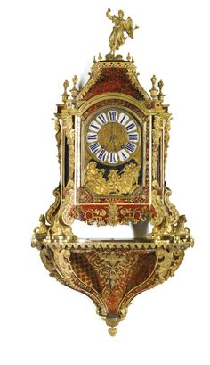 A LARGE LOUIS XIV GILT-MOUNTED TURTLESHELL BOULLE BRACKET CLOCK, FRANÇOIS LANCELOT, PARIS, CIRCA 1700
