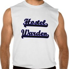 Hostel Warden Classic Job Design Sleeveless Tees Tank Tops