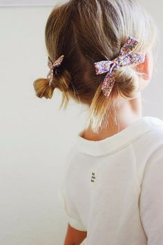 This orange and pink speckled Liberty of London print pigtail set is here just…