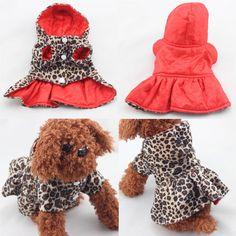 Animais de estimação Cães Pattern Leopard Tutu Vestido Casaco Hoodies Ambos Os Lados Usam roupas para Cães Filhote de Cachorro em Casacos e Jaquetas para Cachorros de Home & Garden no AliExpress.com | Alibaba Group