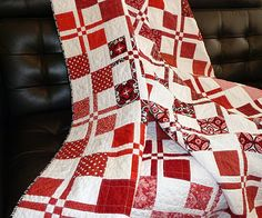 Quilt Evolution...: The Red and White Quilt