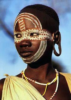 Ashanti Female Warriors   032.surma stick fight More
