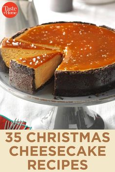 Serve up a sweet treat this holiday season with our favorite festive Christmas cheesecake recipes.