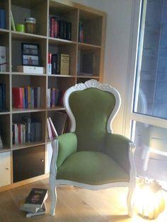 Book corner. Grandma's armchair restored