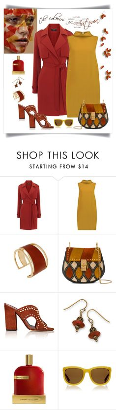 """""""Karen Millen Unstructured Trench Coat Look"""" by romaboots-1 ❤ liked on Polyvore featuring Karen Millen, Joseph, Rachel Zoe, Chloé, Tabitha Simmons, BillyTheTree, AMOUAGE and The Row"""
