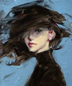 John Larriva artwork is full of beauty and emotion, has Incredible expression,co. - John Larriva artwork is full of beauty and emotion, has Incredible expression,color and skin tones. Art Inspo, Painting Inspiration, John Larriva, L'art Du Portrait, Female Portrait, Woman Portrait, Art Et Illustration, Painting & Drawing, Abstract Portrait Painting